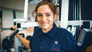Female Sport & Fitness Apprentice in the gym